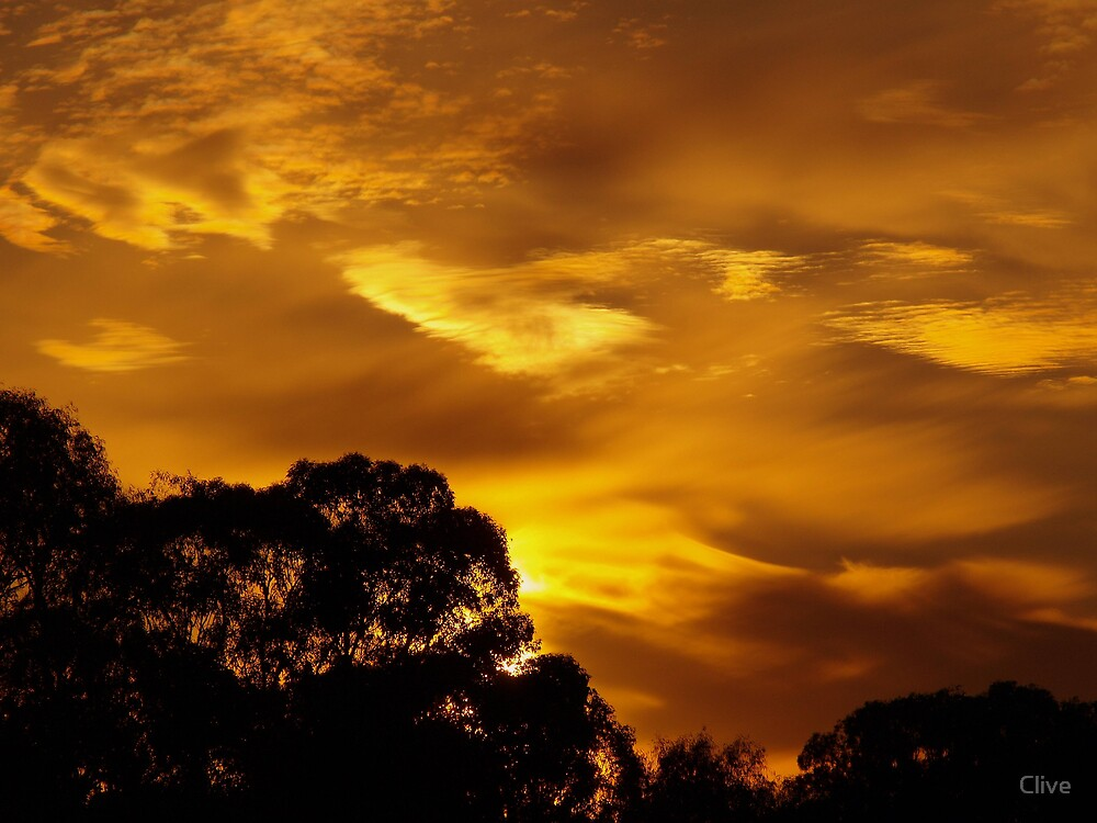 Golden Skies by Clive
