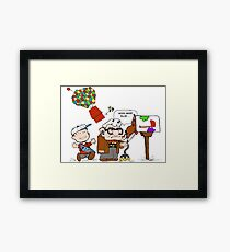 Up with Peanuts Framed Print