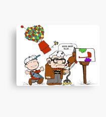 Up with Peanuts Canvas Print