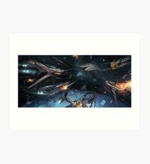 Juventures - Bataille spatiale Impression artistique
