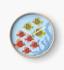 Fish School Clock