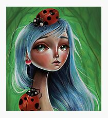 Miss Lady Bug Photographic Print
