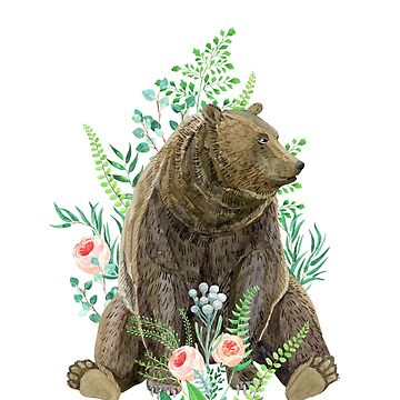bear sitting in the forest by anyuka