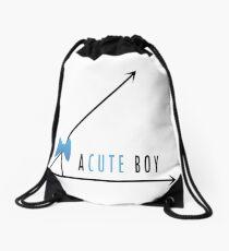 a Cute Boy  Drawstring Bag