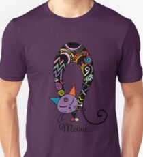 Rainbow cat silhouette collection. Black cats in various poses. Unisex T-Shirt