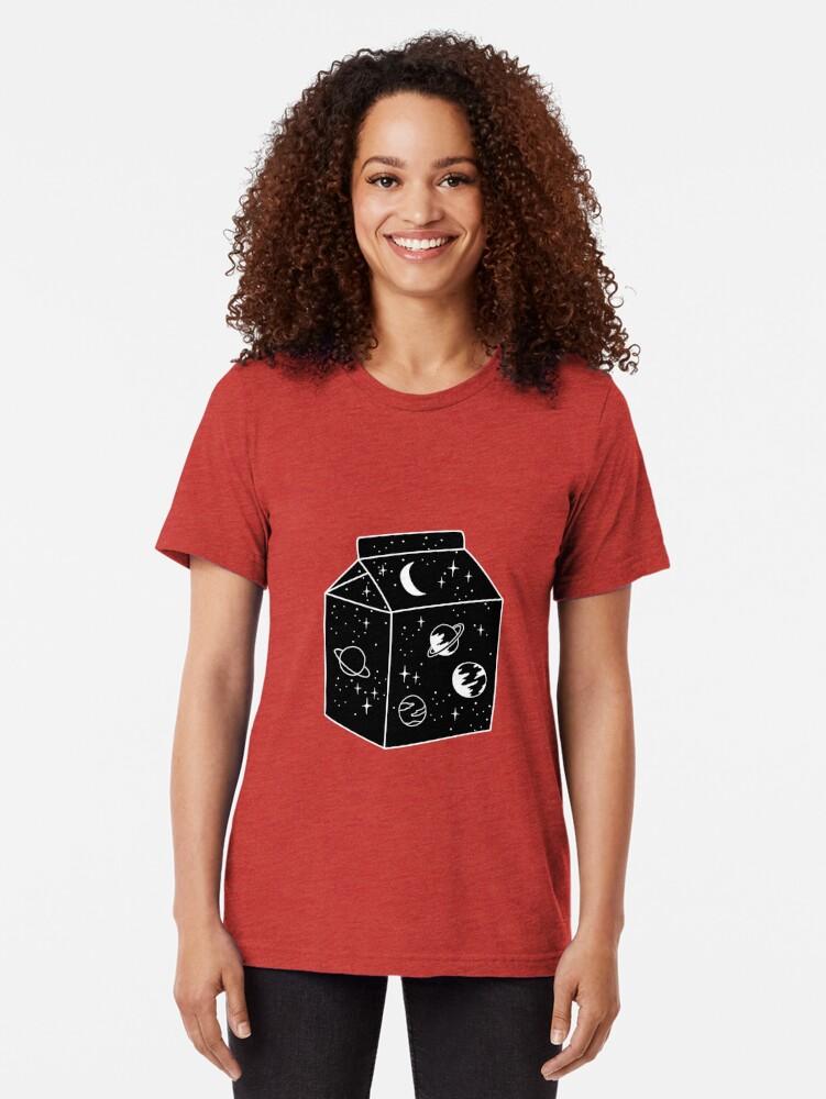 Alternate view of Milky way Tri-blend T-Shirt