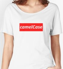 camelCase - Nerdy geeky programming conventions Women's Relaxed Fit T-Shirt