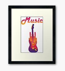 Music and Guitar Framed Print