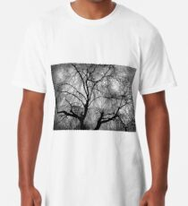 Eerie black and white trees Long T-Shirt