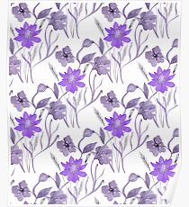 Lilac flowers. Poster