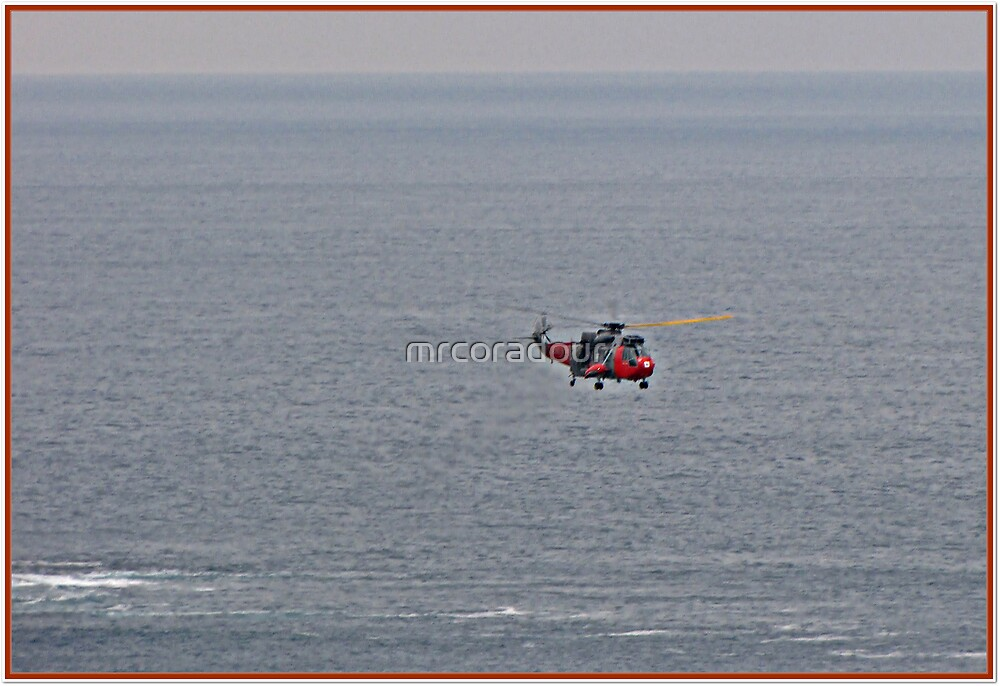 And here comes the Helecopter with the rescued person who slipped & broke his ankle by Malcolm Chant