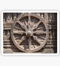 Chariot wheel bas-relief image Sticker