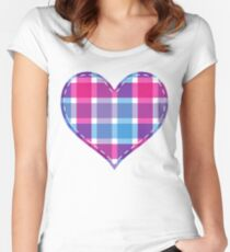 Colorful  Heart Women's Fitted Scoop T-Shirt