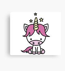 Cute unicorn for kids Canvas Print