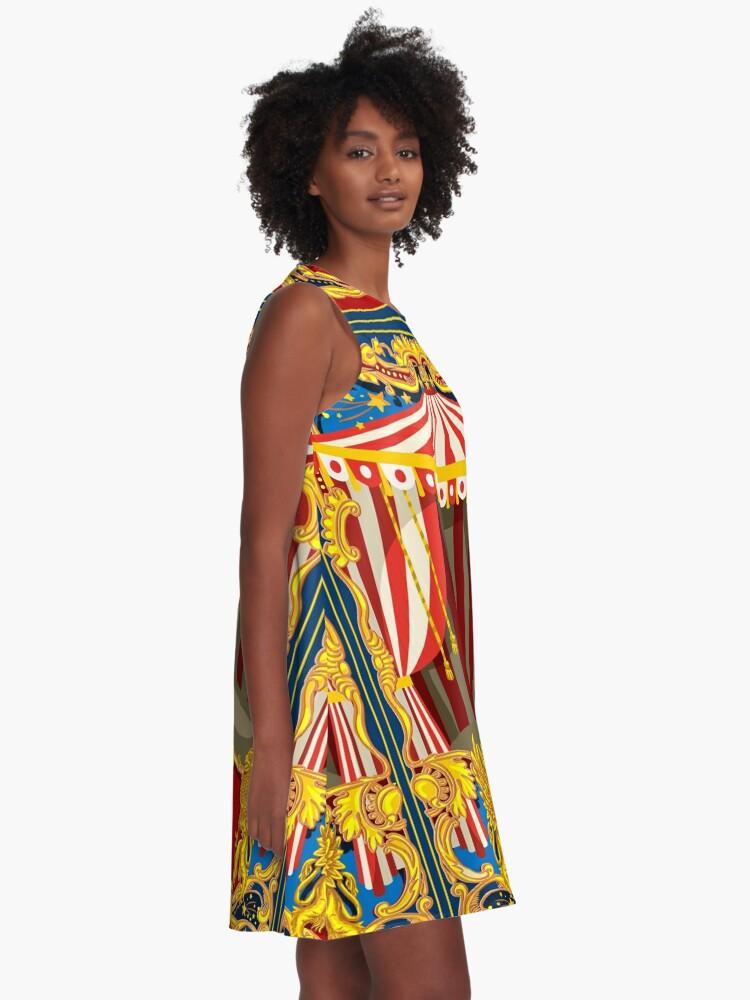 Alternative Ansicht von Karneval Zirkus Vintage A-Linien Kleid