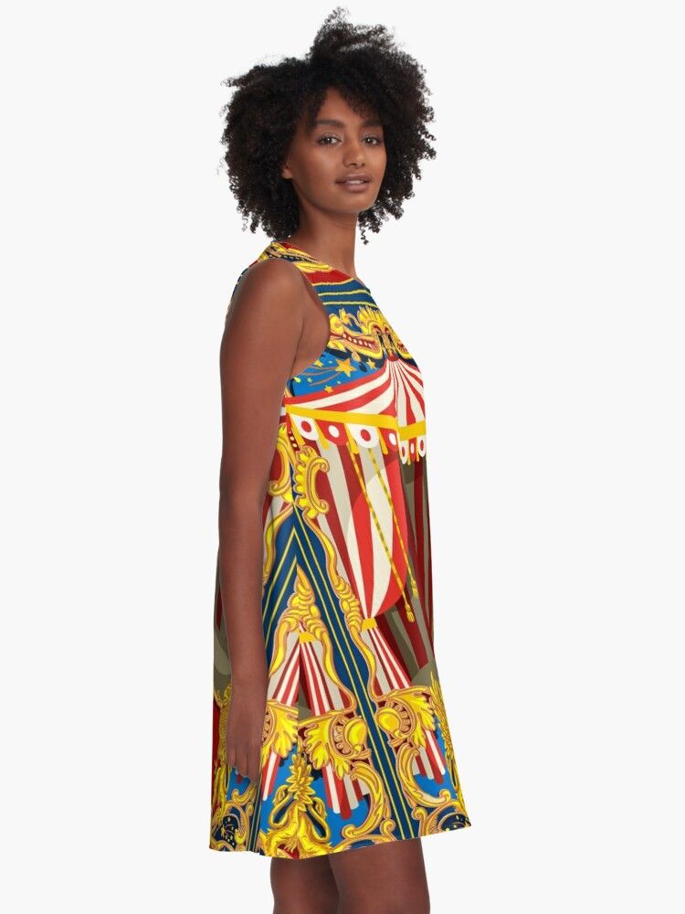 Alternate view of Carnival Circus Vintage A-Line Dress