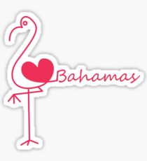 I love Bahamas Sticker