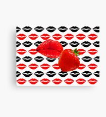 Lip Kisses Canvas Print