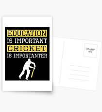 Education Is Important Cricket is Importanter Sports Gift Postcards