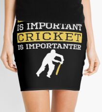 Education Is Important Cricket is Importanter Sports Gift Mini Skirt