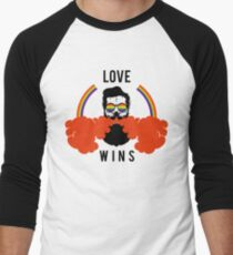 """LGBT EXCLUSIVE COLLECTION """"LOVE WINS"""" Men's Baseball ¾ T-Shirt"""