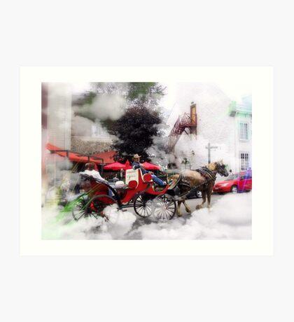 A Ride  Through  The Clouds /    Quebec City  Art Print