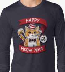 Happy Meow Year Long Sleeve T-Shirt