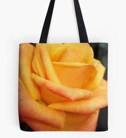 Yellow blushing rose Tote Bag
