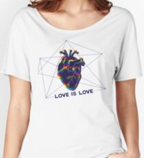 """LGBT EXCLUSIVE COLLECTION """"LOVE IS LOVE"""" Women's Relaxed Fit T-Shirt"""