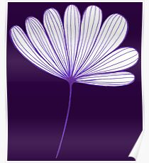Springtime Floral : Purple and Crown Jewel Purple Poster