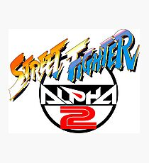 Street Fighter Alpha 2 Logo Photographic Print