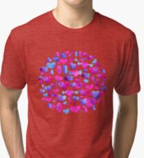 Watercolor romantic design Tri-blend T-Shirt