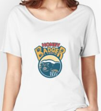 Honey Badger Mascot Claw Circle Retro Women's Relaxed Fit T-Shirt