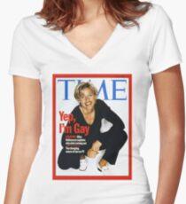 Ellen Women's Fitted V-Neck T-Shirt