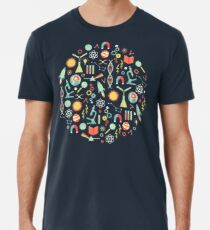 Camiseta premium para hombre Estudios de ciencias