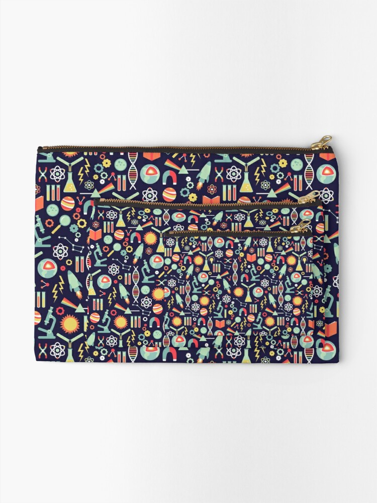 Alternate view of Science Studies Zipper Pouch