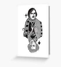 Gogol vs Pushkin Greeting Card