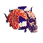 Gorgeous Skull with Flowers by valetas