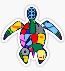 Turtle- ocean plastics Sticker