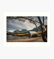 The Dove Lake Boathouse Art Print