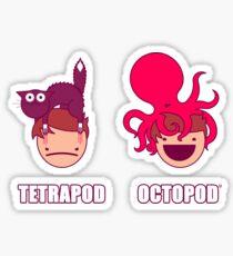 Tetrapod <<< Octopod Sticker