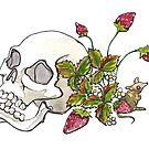 Strawberries and Skull by lysswhitart