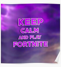 T-shirt Fortnite keep calm Poster