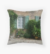 Facade in France Throw Pillow
