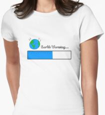 Earth warming Women's Fitted T-Shirt