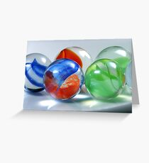 Red, Blue And Green Greeting Card