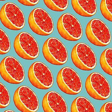 Grapefruit Pattern - Blue by KellyGilleran