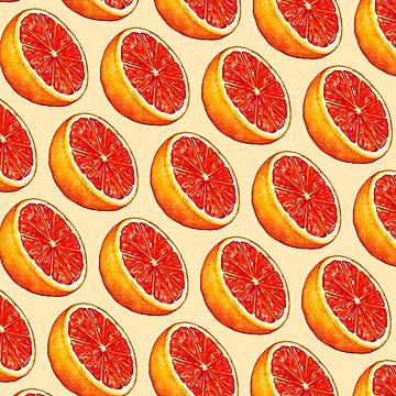 Grapefruit Pattern - Cream by KellyGilleran