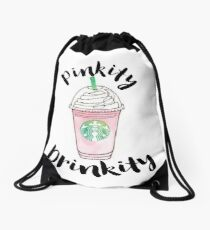 Pinkity Drinkity Drawstring Bag