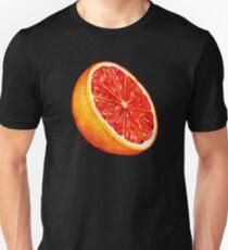 Grapefruit Pattern - Black Unisex T-Shirt